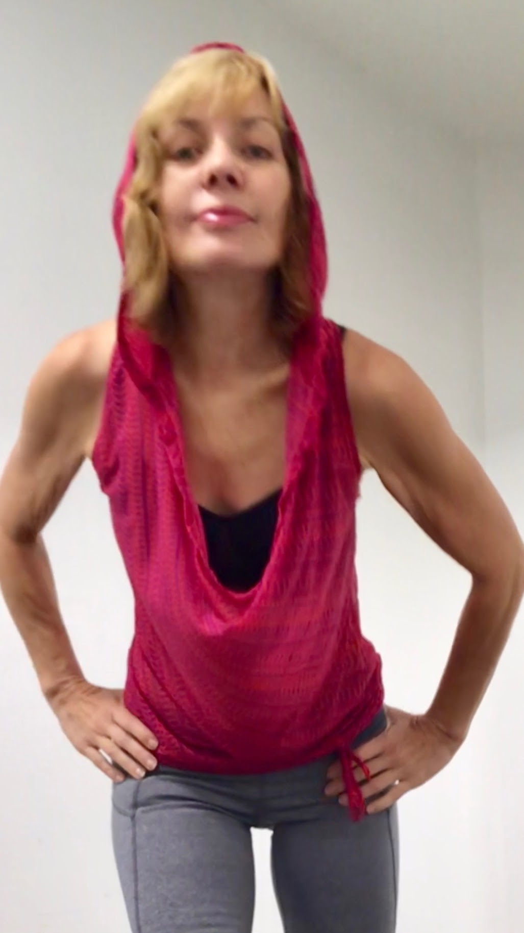Pink top with hood